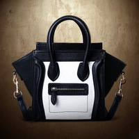 Handbag Women 2013 Fashion Vintage Bag Black-And-White Clutchs Smiley Handbag One Shoulder Bag Messenger City Tote Bag Designer