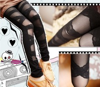 Korean summer lady lace straps tied with gauze sexy splicing Leggings