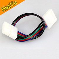10pcs/lot 4pins RGB connector, strip connector, RGB connector, Double 4ins connector for RGB strip light jointing free shipping