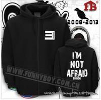 Free shippingupset Zip fleece E for eminem Cap unlined upper garment The NOT AFRAID Hip hop cardigan