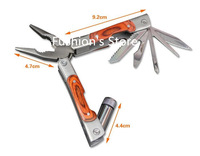 Free shipping,200 g Multi-function folding pliers/portable lamp clamp/outdoor tools wire cutters pliers/pliers,1 pcs/lot