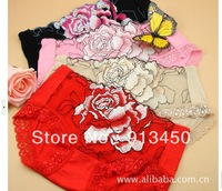 High-Quality women's underwear peony roses embroidered lace Female Panties Briefs Knickers Lingerie Underwear wholesale UP0006