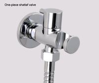 Chrome Plated One-piece Shattaf Vlave with Holder For Bidet Shattaf Shower Kit Brass Tiolet Shattaf Holder Free Shipping