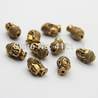 Wholesale Free Shipping 50pcs/lot Antique Gold Buddha Charms Bead Metal Buddha Beads Diy For Bracelet and NecklaceJewelry Making