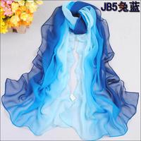 Min order $15 2012 Hot Style New Women's Fashion Tie-dye Patchwork Gradual colors chiffon georgette silk scarf/ shawl!(SC004)