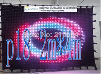 On sale!!! P18(pitch 18cm) 2M*4M   242pces leds video curtain,30programs DMX controller
