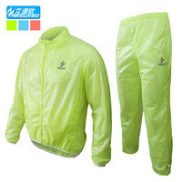 outdoor sports cycling bike bicycle rain coat jacket pant suits uniform windproof feather weight Waterproof Pack cool
