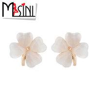 Accessories earrings female - eye four leaf grass flower stud earring earrings fashion anti-allergic