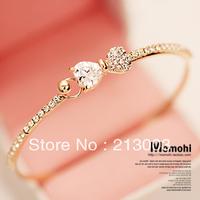 Austria crystal zircon bow bracelet female fashion hand ring jewelry bracelet rose