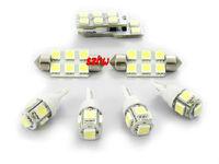 LED car interior reading lights, LED car decorative lights case for Audi A4L / A5 2008~2013, 7 pcs/set, simple installation
