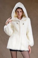 Free shipping, 2014 Newest Women Fashion Real Rex Rabbit Fur Coat Lady Winter Warm Outwear Hooded Outerwear Q002