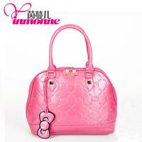 spring items Hello Kitty handbag lovely pink handbag bow Shoulder Satchel the Korean version of women's parcel free shipping