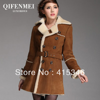 Design Free Shipping 2013 autumn and winter genuine fur coat women big size XXL