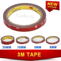 4pcs/lot 6/ 8/ 10/ 20 mm 3M Double Sided Tape Automotive Acrylic Vehicle Foam Sticker Adhesive free shipping