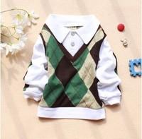 Free shipping 2013 autumn new children's Korean boy's long-sleeved t-shirt A149