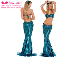 Halloween costumes flash chip blue mermaid bikini sexy celebrity photo album service dinner service