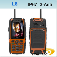 L8 IP67 Waterproof Shockproof TV cellphone walky talky mobile phone TV Bluetooth GSM Camera Dual Sim 3800mAH LT11