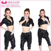 Retro hip hop HIP-HOP dance clothes costumes harem wind bar after 90 DS costumes hip-hop