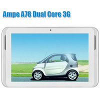 "Free shipping!7"" Ampe A78 3G Tablet PC Qualcomm Dual Core tablet pc 1.2Ghz Dual camera 2MP Built-in 3G ,GPS, Bluetooth 3.0 OTG"