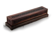 High quality made from Red acid branch wood five cutout  incense burner box with luxury gift box