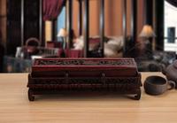 Make from red acid branch wood carved lotus incense stick holder