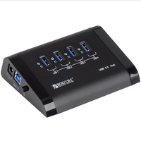 ORICO U3H4 4 Ports High speed USB 3.0 4 ports hub powered with on/off switch 12V 2.5A DC adapter for laptop free shipping
