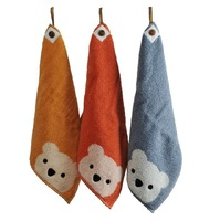 Thick 100% cotton children towel, absorbent cotton towels,three color35*35cm 3pcs/lot chocolate brown towels,hand towel
