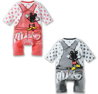 New 2014 Summer Baby Clothing Kids Clothes One-piece Minnie Mouse Infant Overall Romper Baby Boys Girls Baby Rompers