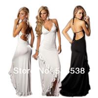 2 Color Women's Fashion Dresses Deep V-neck Backless Sexy Lingerie Celebrity Evening Dresses Ruffles Nightclub Cocktail Dresses
