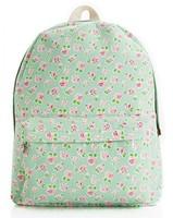 Fashion designer floral printing backpack korean style cangvas bag student school bag double shoulder bag Vintage bag