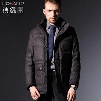 New 2013 100% Original Brand HOYANP Men's Winter Down Jackets Casual medium-long Down Coat HA12201, M/L/XL2XL/3XL, Free Ship