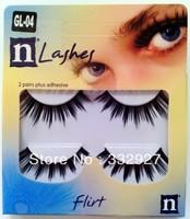 High quality 2 false eyelashes gl04 black natural dense nude makeup