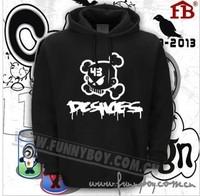 The new 2014 fashion Euro thickening DC skateboard graffiti hip hop hypertrophy men's fleece  plant bonnet blouses