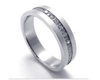 2013 New Low-key luxury models with drill more charm men titanium steel ring