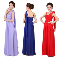 wedding bridesmaid chiffon prom maxi gown drapped formal dress size 4 6 8 10 12 14 16 18 red lilac champagne pink royal blue