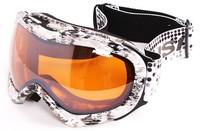 Professional polisi skiing mirror double layer antimist spherical large outlook ski eyewear male Women card myopia