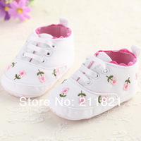 SanFu--  #ZA037 2014 NWT Girl Baby Shoes Toddle WHITTE COTTON First Walker  Sneaker Shoes Size 2 3 4 Free Shipping
