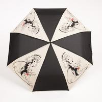 Free shipping fashion personalized three folding commercial anti-uv automatic umbrella
