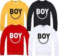 New BOY LONDON Quan Zhilong same paragraph Bigbang trend iron chain couple models Sweat Jacket,hip-hop
