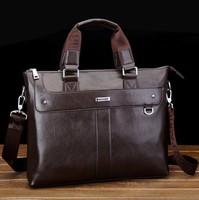 Genuine leather man bag horizontal casual handbag first layer of cowhide bag men messenger bags laptop bag briefcase male