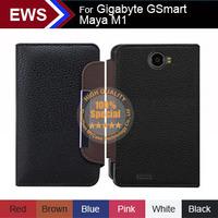 New 2014 items Free Shipping Custom PU Leather Holder 100% Special Case + Free Gift For Gigabyte GSmart Maya M1 V2