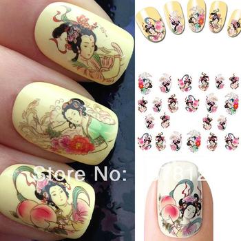 Wrap 3d nail art sticker beauty geisha girls dropshipping retail