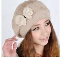 2014 Autumn and winter Women's fashion winter knitted hat  Hats for women skullies vogue cap homies fur winter hats for women