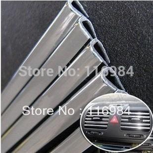 "3Metres x 6MM ""U"" Style Tube Chrome Trim Strip Bumper Air Vent Grille Switch Rim Moulding(China (Mainland))"