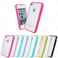 DHL free 100pcs Wholesale Frost Matte Transparent Back TPU CANDY Soft Gel Frame Bumper Cover Case for Apple iphone 5 5G 5S
