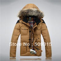 2014 Thick medium-long male down coat male Men plus size winter male men's down jacket men  winter jacket warm coat brand jacket