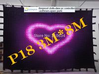Video led curtain(3M*8M)p18,704 leds led star cloth / RGB led star cloth