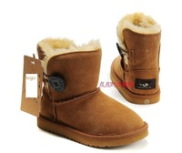 free shipping 2014  Winter children Australia Genuine leather Snow Boots cotton shoes baby child kids  girls and boys