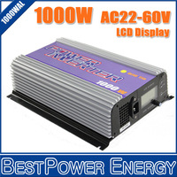 Free Shipping 1000W 1KW Grid Tie Wind Power Inverter AC22-60V 3phase input with Dump Load Resister / Connection LCD Display