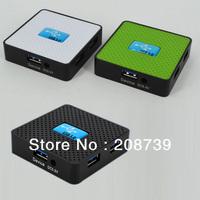 Aluminum cover 4 port USB 3.0 hub splitter, DHL free shipping